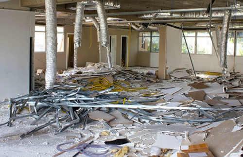 Office Interior demolition before renovation in Perth.